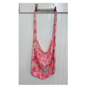Free People 2pc boho gauzy linen fabric tote bags